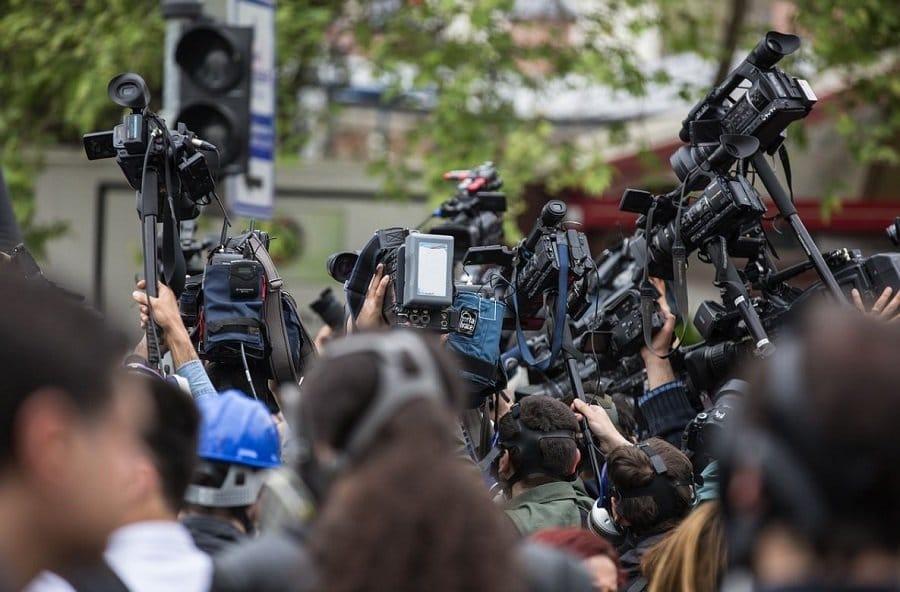 journalistes rassemblement