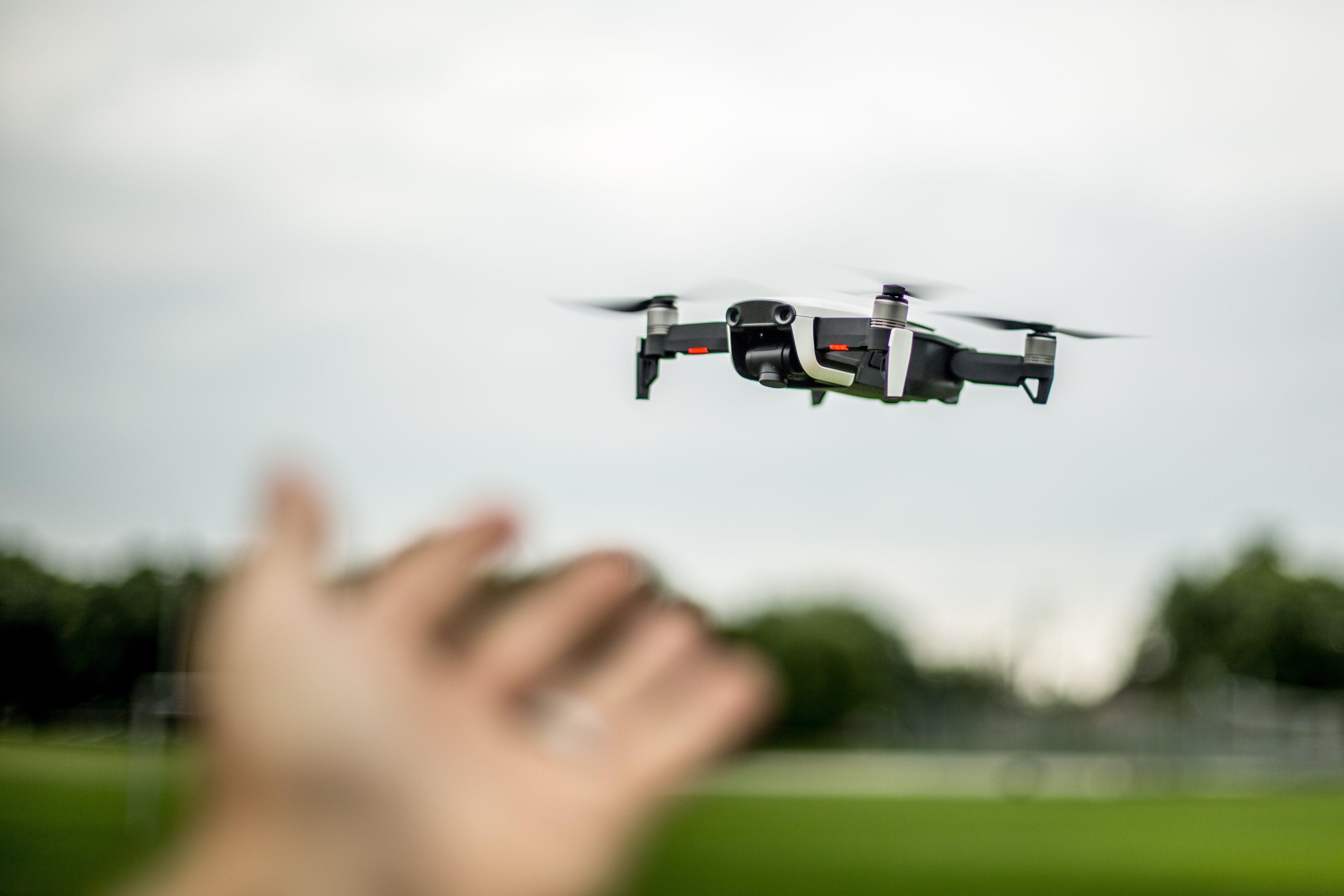 Course drone pour animation originales fêtes de fin d'année
