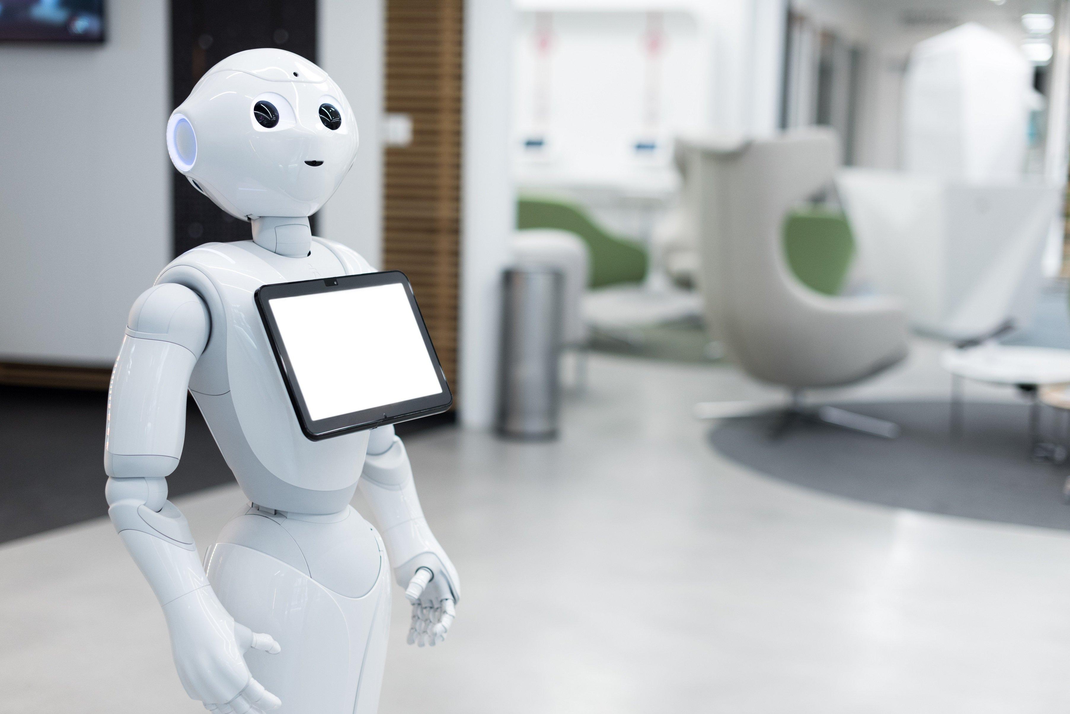 Robot Pepper lors d'une animation originale de fêtes de fin d'année