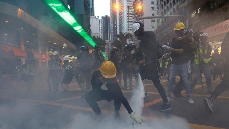 Manifestations à Hong Kong