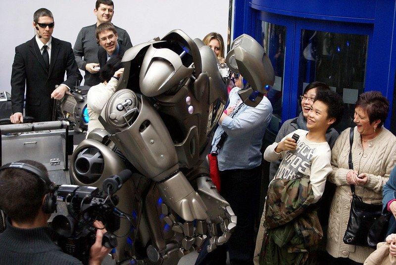 événement grand public avec robot Titan