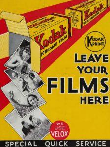 Affiche publicitaire vintage pour kodak