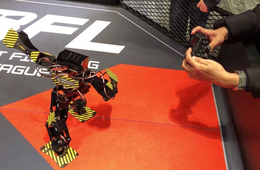 combat de robots boxeurs