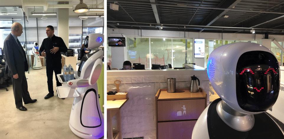 événements animés avec un robot serveur