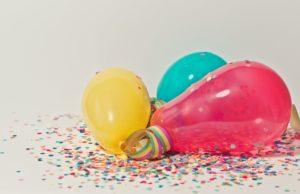 canon à confettis bombe ballons