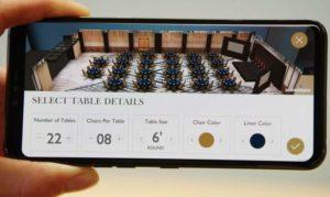 VR planification d'événement smartphone AR modélisation 3D