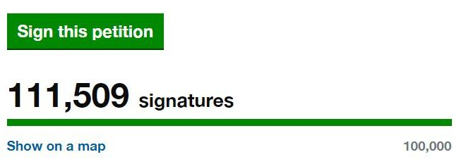 pétition pour le soutien économique de l'événementiel au Royaume-Uni