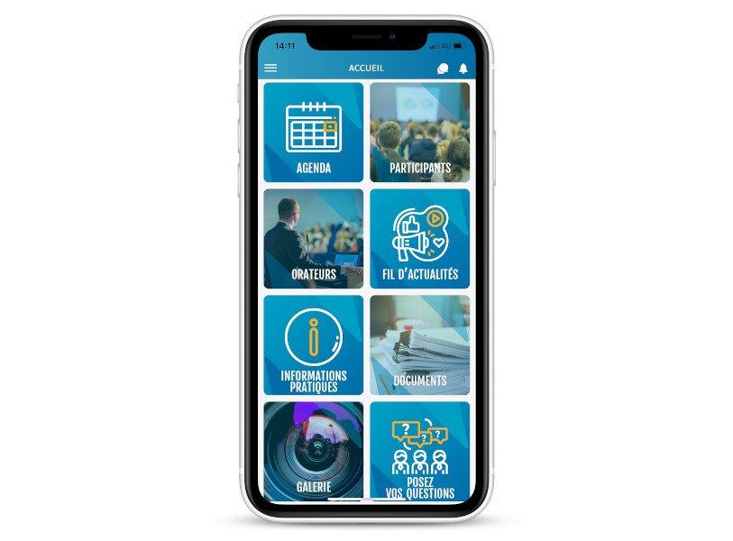 page d'accueil invent app