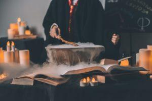 harry potter pendant une soirée magique