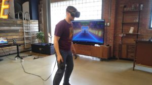 réalité virtuelle pendant un team building