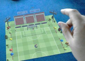 animation football en hologramme