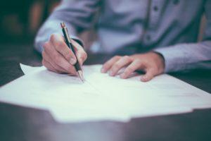 écrire une lettre manuscrite