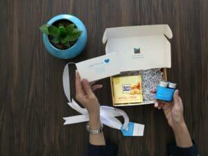 boîtes de cadeaux pour les participants