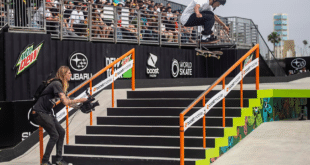 événement skateboard avec public en tribune