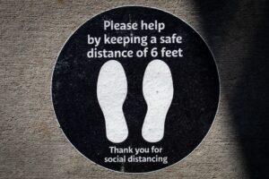 distanciation sociale pendant les événements
