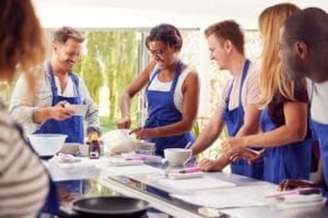 cours de cuisine pendant un événement