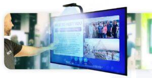 écran interactif avec un capteur