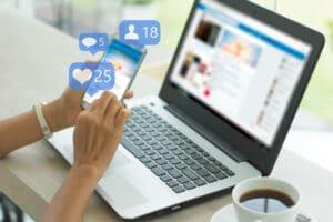 média social pour trouver un client