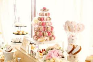 macarons et meringues pour un mariage
